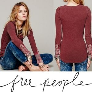 RARE Free People Red Mulberry Kyoto Cuff Thermal L